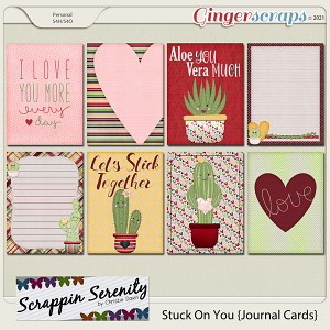 Stuck On You Journal Cards