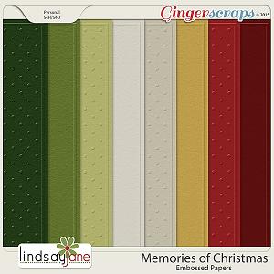 Memories of Christmas Embossed Papers by Lindsay Jane