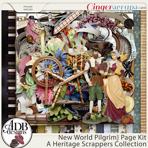 New World Pilgrim Page Kit by ADB Designs