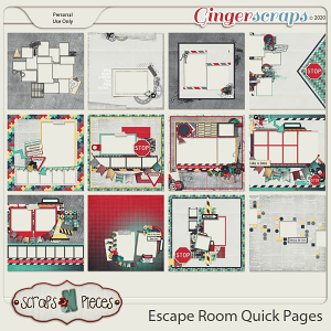 Escape Room Quick Pages by Scraps N Pieces