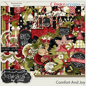 Comfort And Joy Digital Scrapbooking Kit
