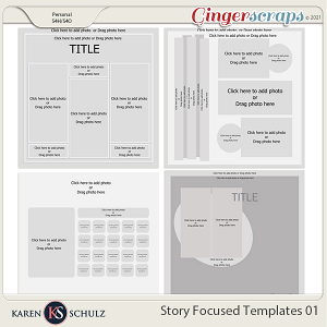 Story Focused Templates 01 by Karen Schulz
