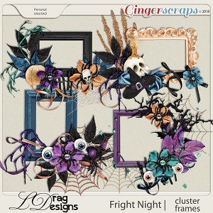 Fright Night: Cluster Frames by LDragDesigns
