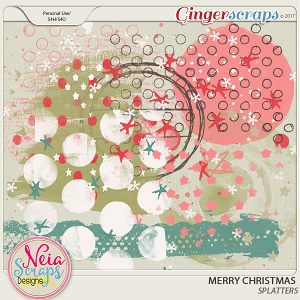 Merry Christmas - splatters- by Neia Scraps