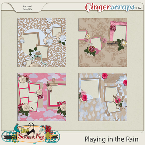 Playing in the Rain Quick Pages by The Scrappy Kat