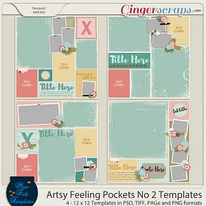 Artsy Feelings Pockets No 2 Templates by Miss Fish