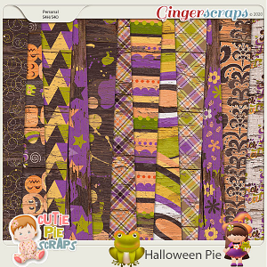 Halloween Pie-Wood Papers