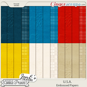 U.S.A. - Embossed Papers