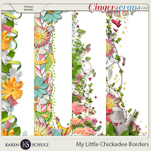 My Little Chickadee Borders by Karen Schulz