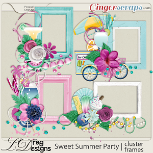 Sweet Summer Party: Cluster Frames by LDragDesigns
