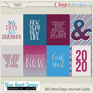 365 New Days Journal Cards
