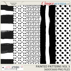 CU - Painted Patterns - VOL 3 by Neia Scraps