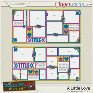 A Little Love Template Pack by BoomersGirl Designs