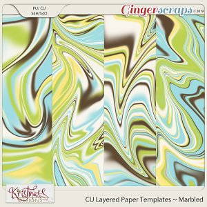 CU Layered Paper Templates ~ Marbled