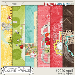 #2020 April - Messy Papers by Connie Prince