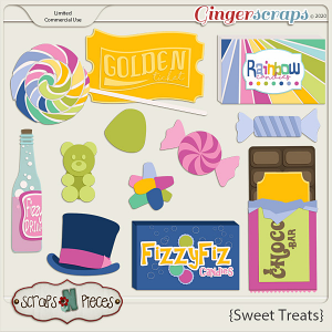 Sweet Treats CU Templates - Scraps N Pieces