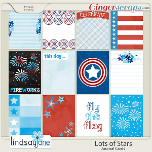 Lots of Stars Journal Cards by Lindsay Jane