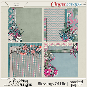 Blessings Of Life: Stacked Papers by LDragDesigns