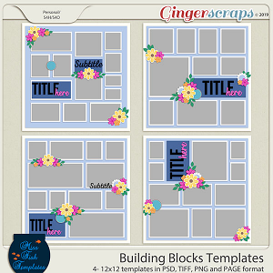 Building Blocks 1 Templates by Miss Fish