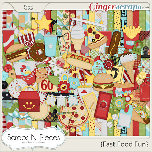 Fast Food Fun kit - Scraps N Pieces