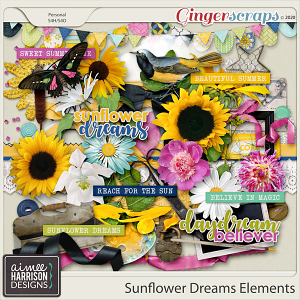 Sunflower Dreams Elements Pack by Aimee Harrison