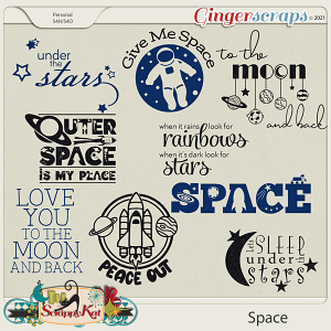 Space Word Art by The Scrappy Kat