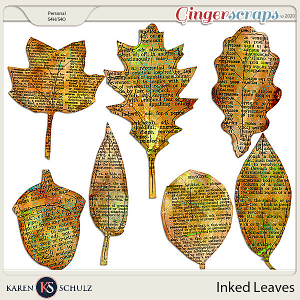 Inked Leaves by Karen Schulz
