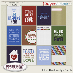 All In The Family - Cards by Aprilisa Designs