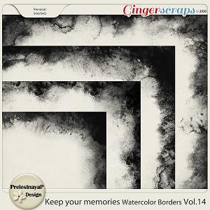 Keep your memories Watercolor Borders Vol.14