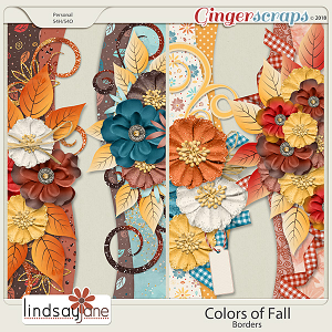 Colors of Fall Borders by Lindsay Jane