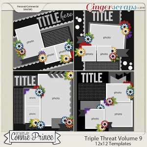 Triple Threat Volume 9 - 12x12 Temps (CU Ok)