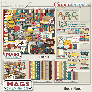 Book Nerd BUNDLE by MagsGraphics
