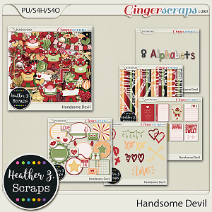 Handsome Devil BUNDLE by Heather Z Scraps