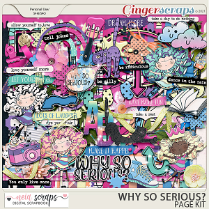 Why so Serious? - Page Kit - by Neia Scraps