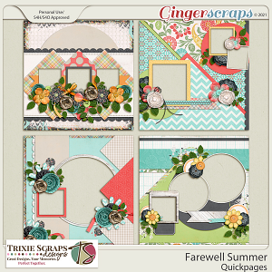 Farewell Summer Quickpages by Trixie Scraps Designs