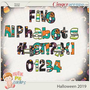 Halloween 2019-Alphabets