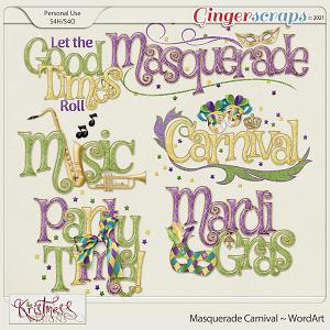 Masquerade Carnival WordArt