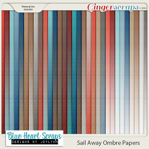 Sail Away Ombre Paper Pack
