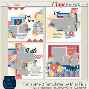 Foursome 2 Templates by Miss Fish