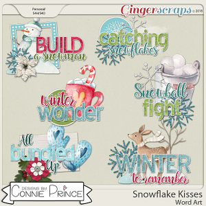 Snowflake Kisses - Word Art Pack by Connie Prince