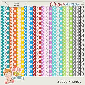 Space Friends Pattern Papers By Cutie Pie Scraps