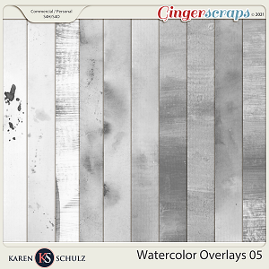 Watercolor Overlays 05 by Karen Schulz
