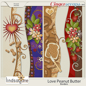 Love Peanut Butter Borders by Lindsay Jane