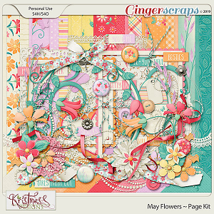 May Flowers Page Kit