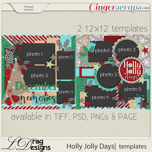 Holly Jolly Days: Templates by LDragDesigns