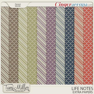 Life Notes Extra Papers by Tami Miller Designs
