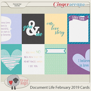 Document Life February 2019 Cards by Luv Ewe Designs