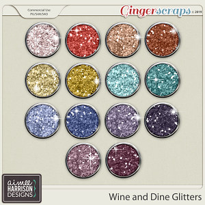Wine and Dine Glitters by Aimee Harrison