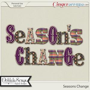 Seasons Change Alphabets