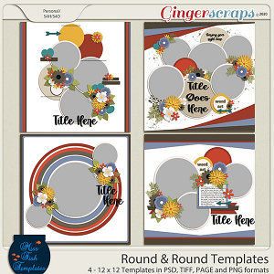Round and Round Templates by Miss Fish